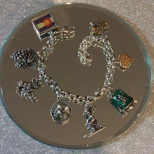 Brighton Colorado State Charm Bracelet